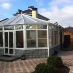 Сборка крыши зимнего сада